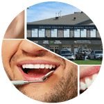 Collage of images from grande prairie dental clinic - dentist in grande prairie alberta